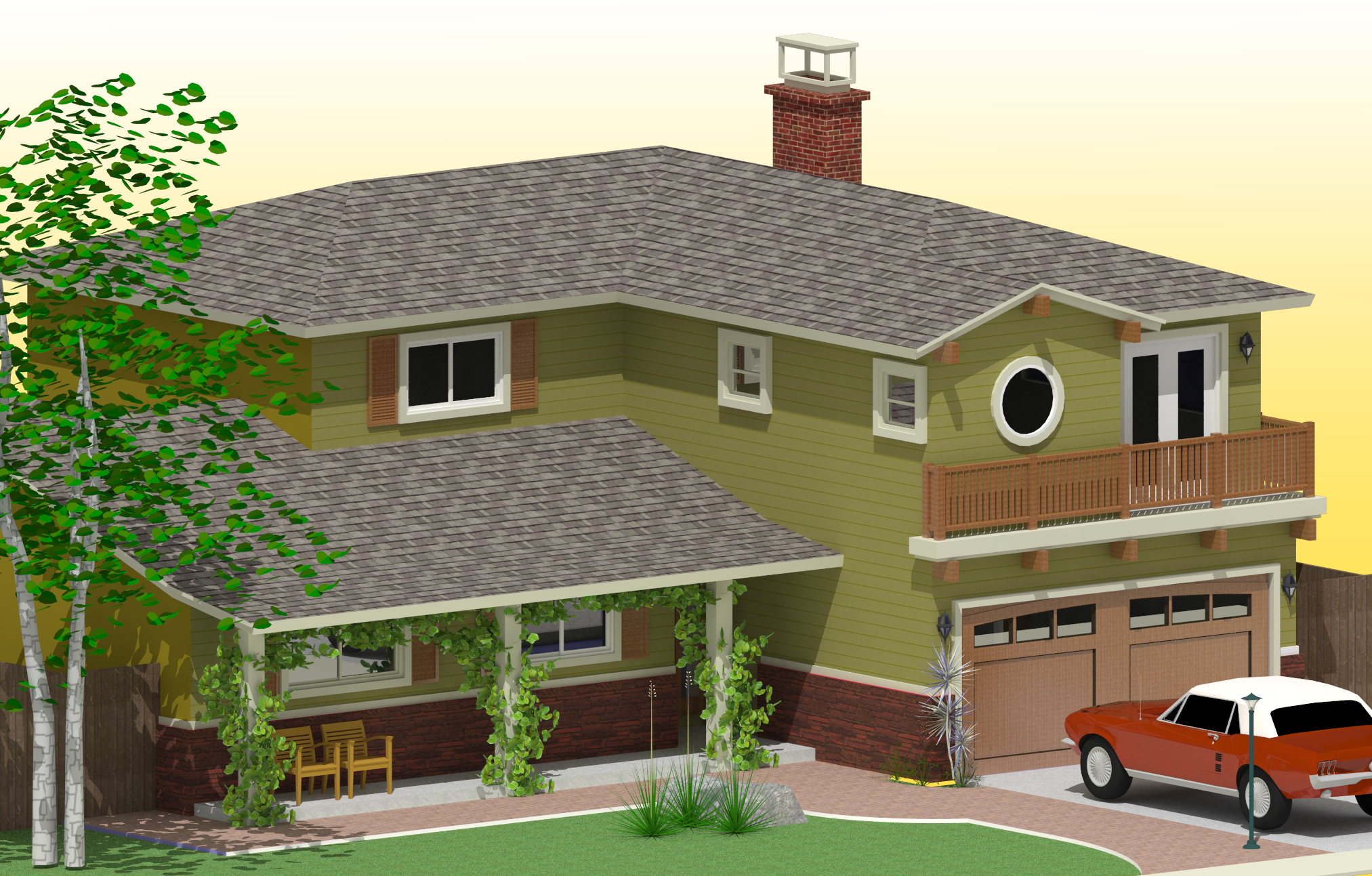 Ranch Style Front Elevations