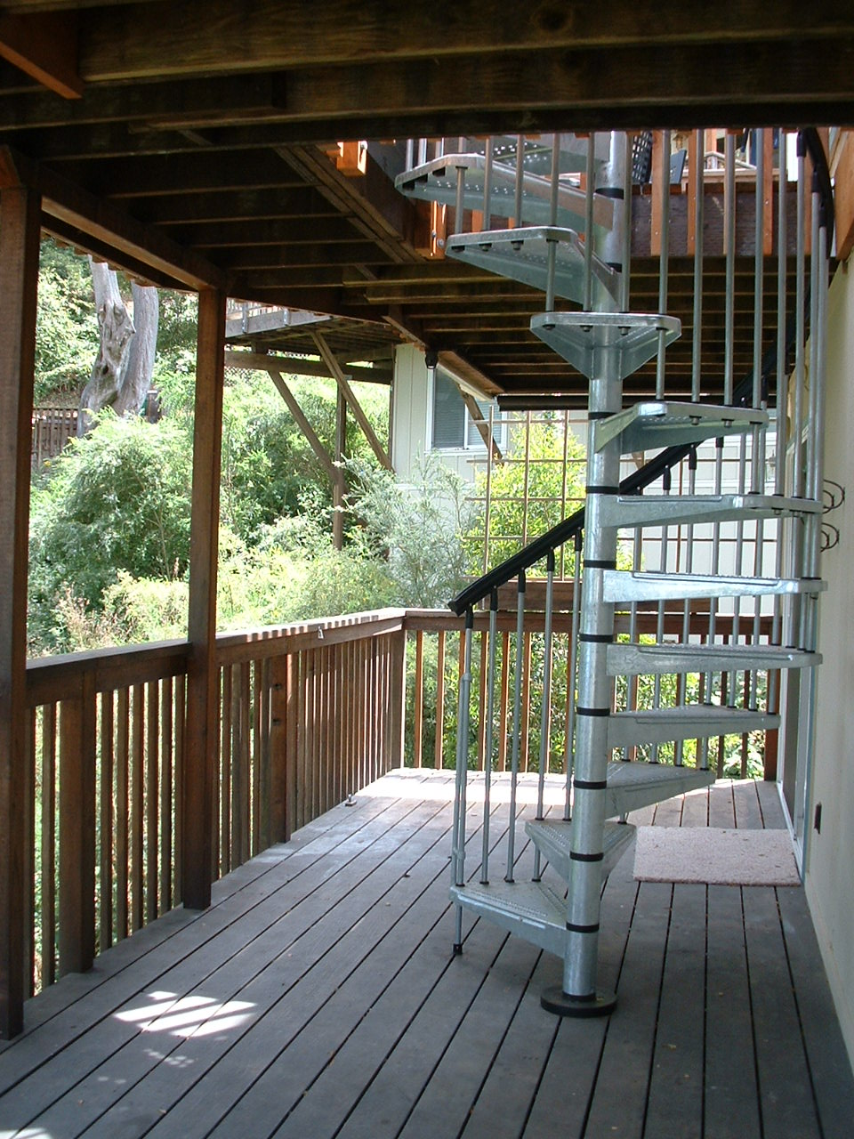 Double Deck Design : double deck stairs redwood double deck spiral staircase